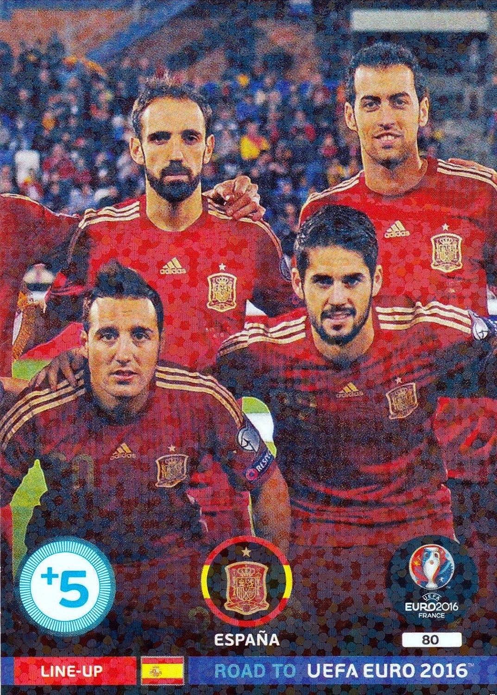Panini Adrenalyn route vers Euro Par la FIFA 80 Espana-Line Up: Amazon.es: Deportes y aire libre