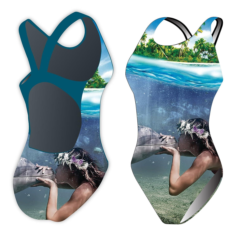 Diapolo Synchr Mermaid Kiss Badeanzug Synchro Kollektion für Schwimmen Synchronschwimmen Wasserball Triathlon