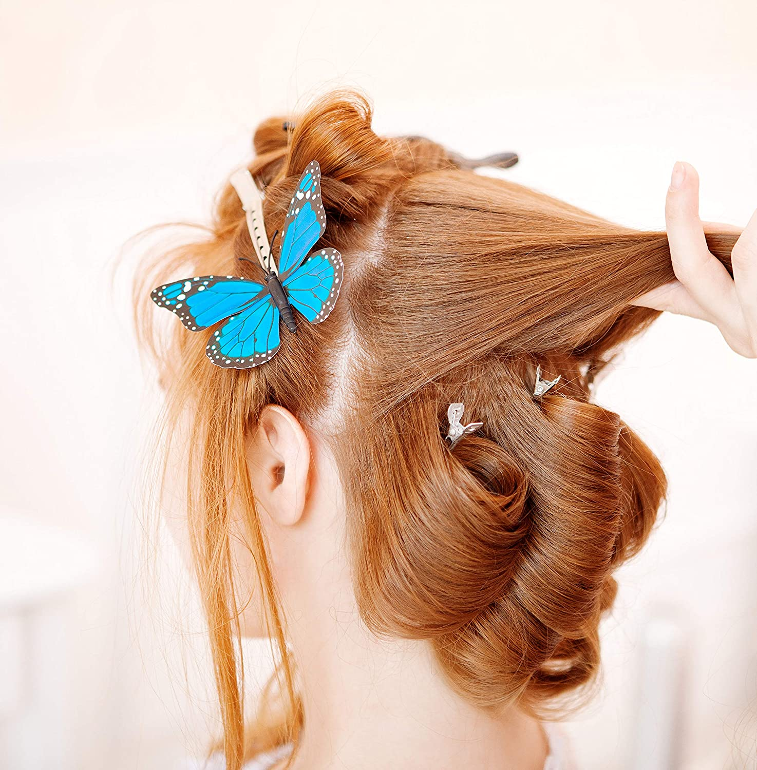 Details about  /Shiny Glitter Acrylic Horn Hair Clip Clamp Duckbill Hair Clips For Styling Hairs