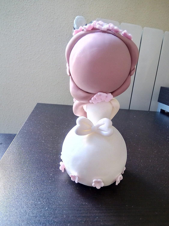 Hermosa Muñeca Angelito en Porcelana fria, bautizo, primera comunion, decoracion de tarta: Amazon.es: Handmade
