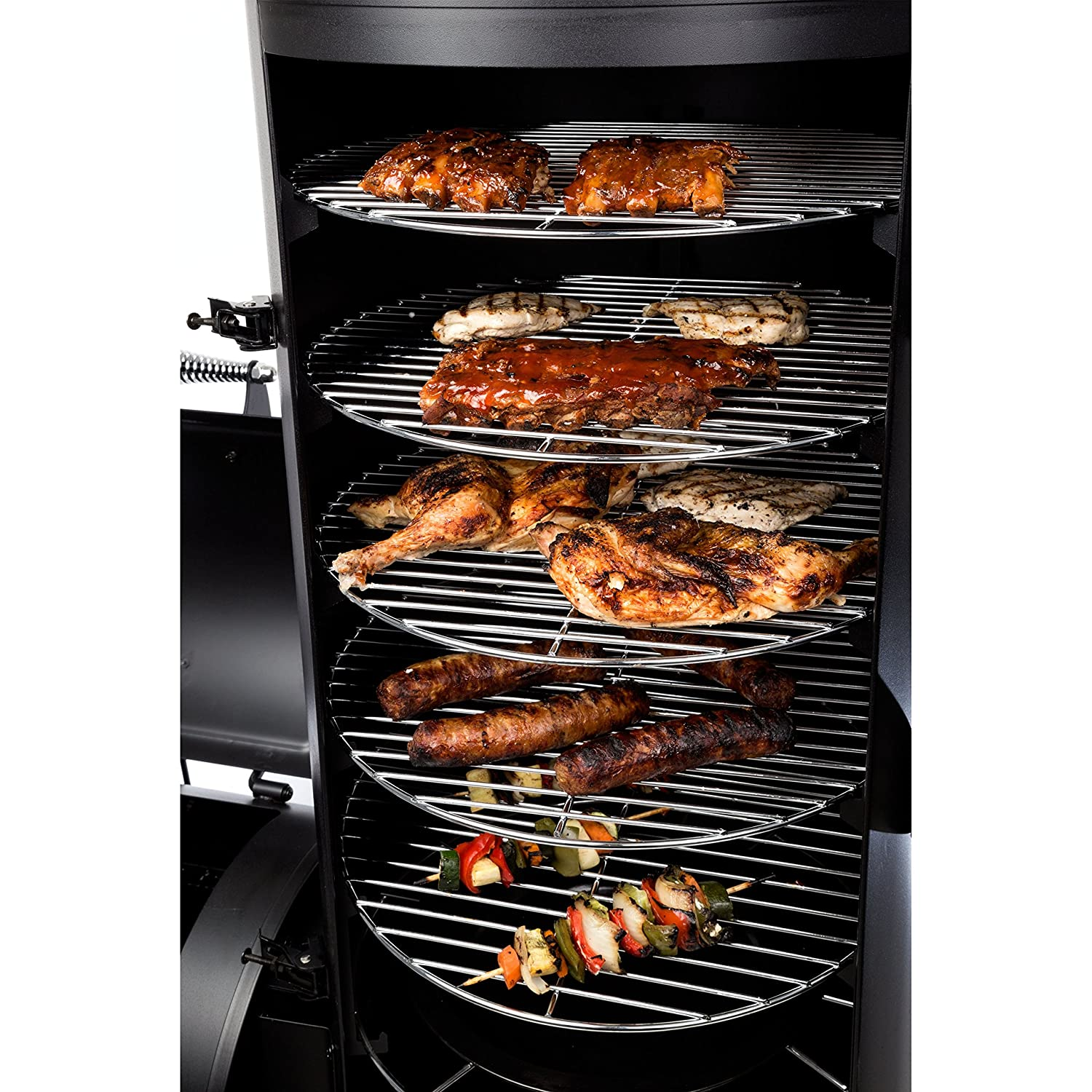 Dyna-Glo Signature Series DGSS1382VCS-D Heavy-Duty Vertical Offset Charcoal Smoker /& Grill