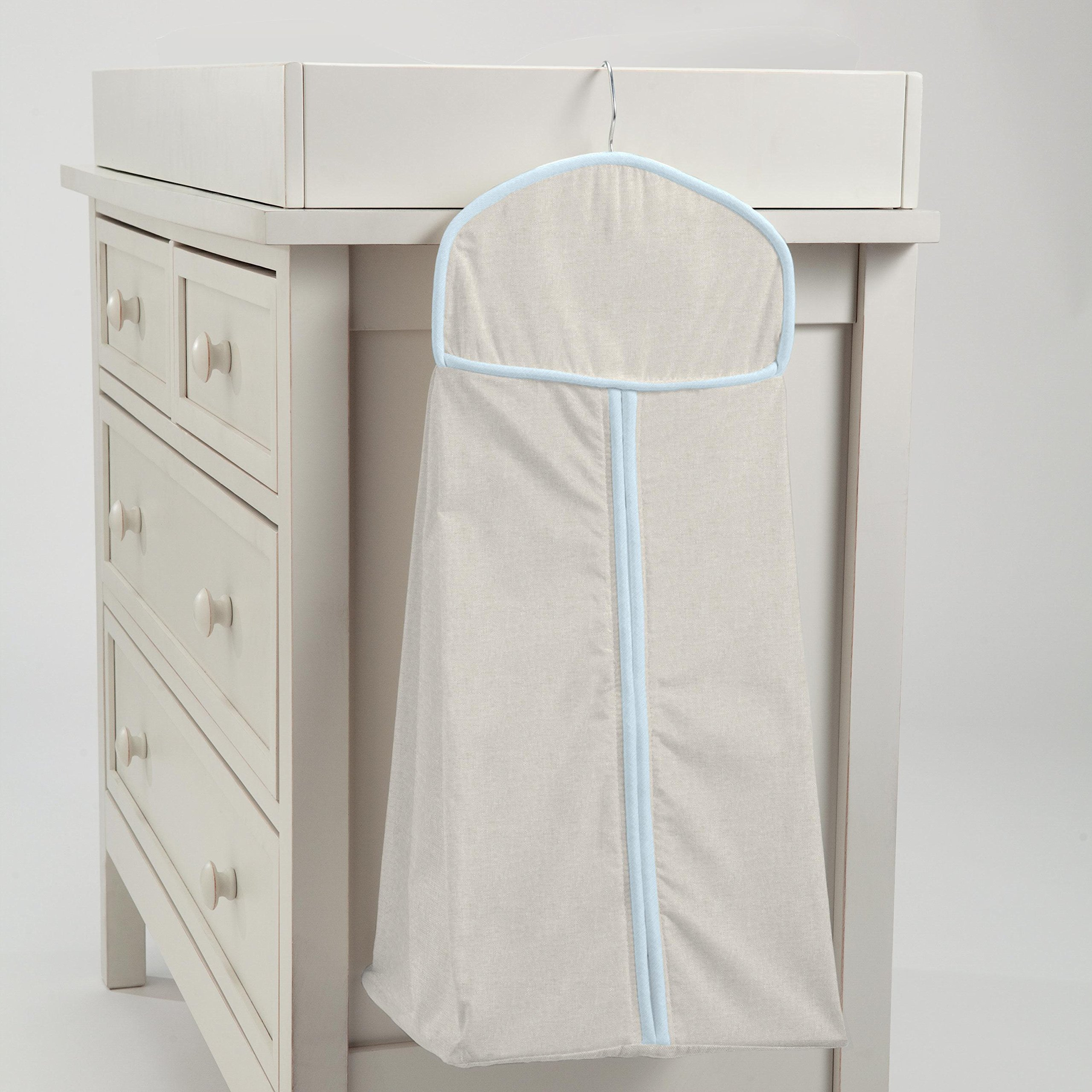 Carousel Designs Light Blue Linen Diaper Stacker