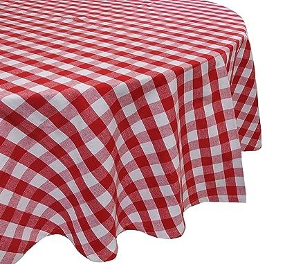 Yourtablecloth 100% Cotton Checkered Buffalo Plaid Tablecloth U2013 Ideal For  Home, Restaurants, Cafés