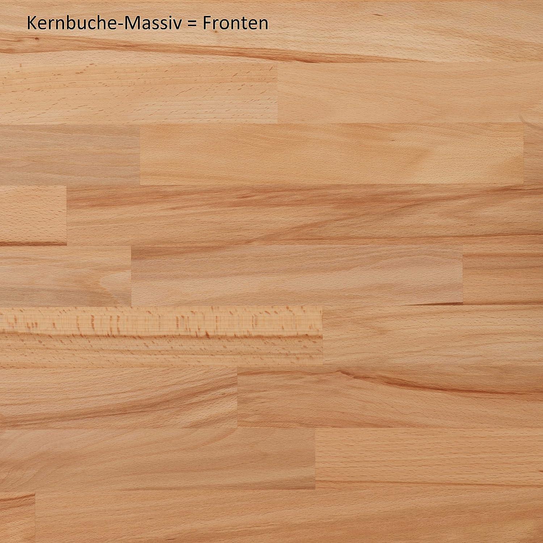 in Kernbuche teilmassiv 7150 Aktenregal B/ücherregal 90x120cm