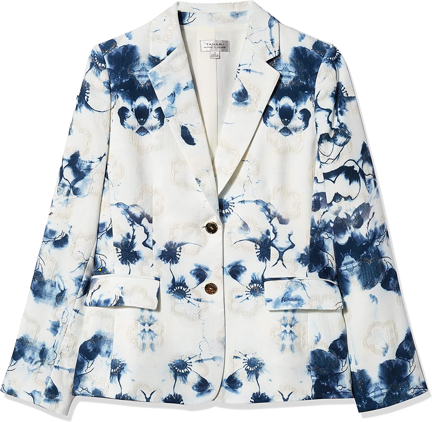 Tahari by ASL Womens Jacket Dress with Fold-Over Collar