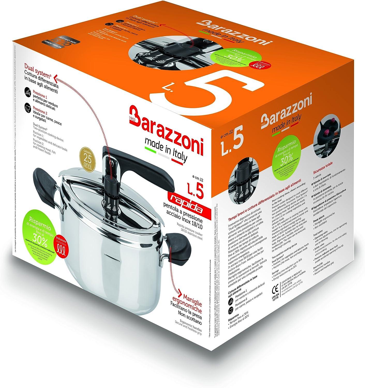 Amazon.com: Barazzoni olla de presión rapida fabricado en ...