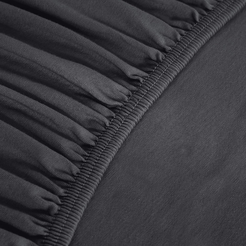 80 x 190 cm Beige S/ábana bajera de jersey Basics