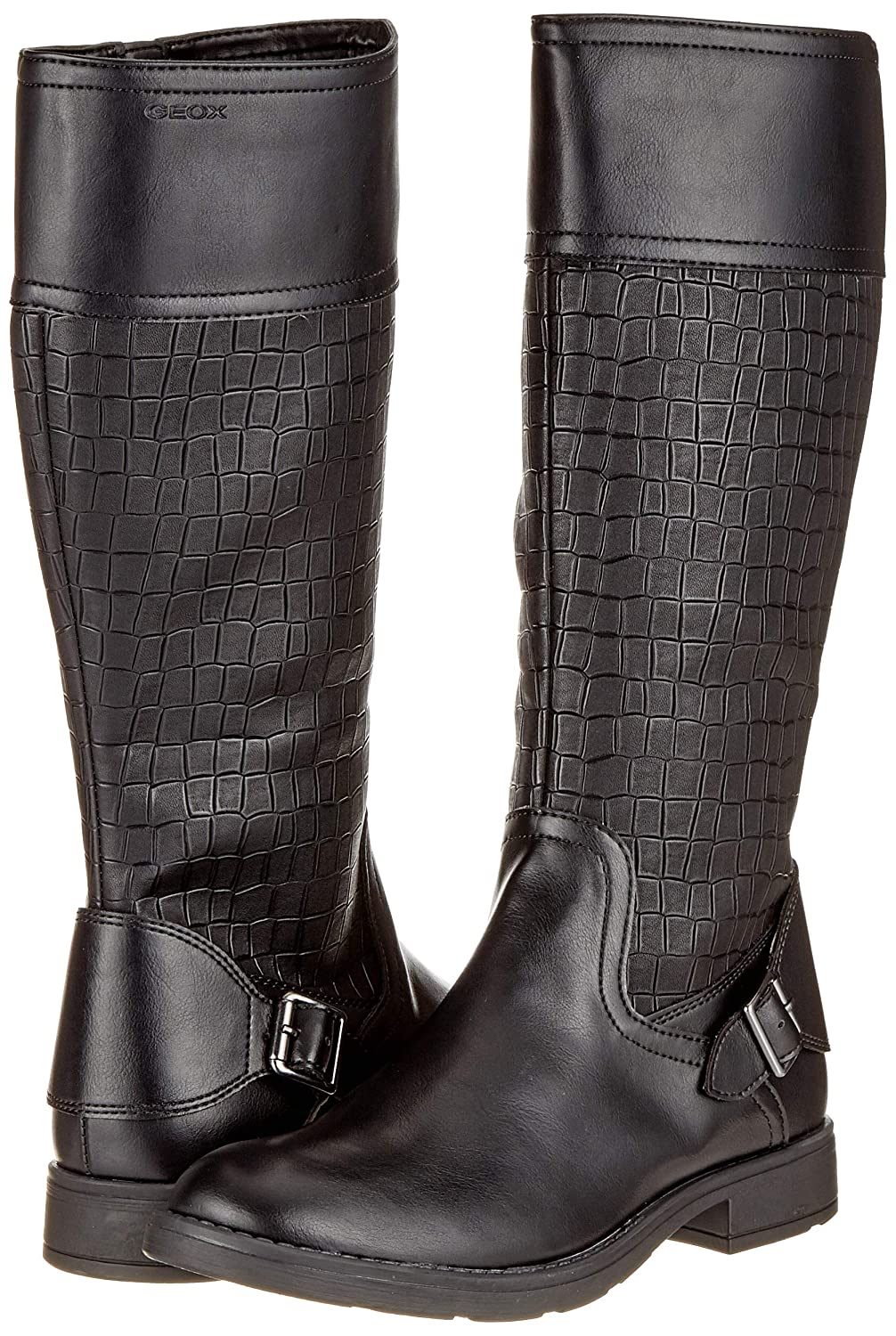 Geox Sofia Tall Girls Junior Buckle Motorcycle Boots