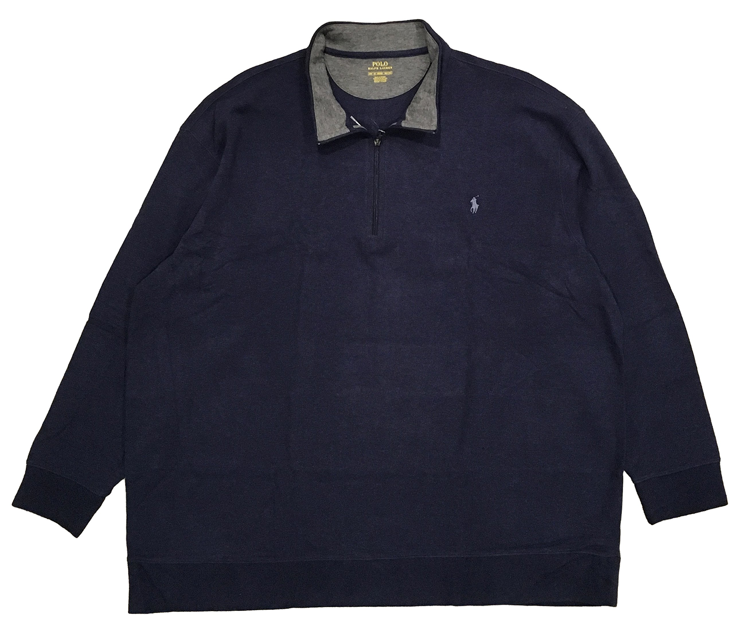 Polo Ralph Lauren Luxury Jersey Pullover (4X Big, Spring Navy)