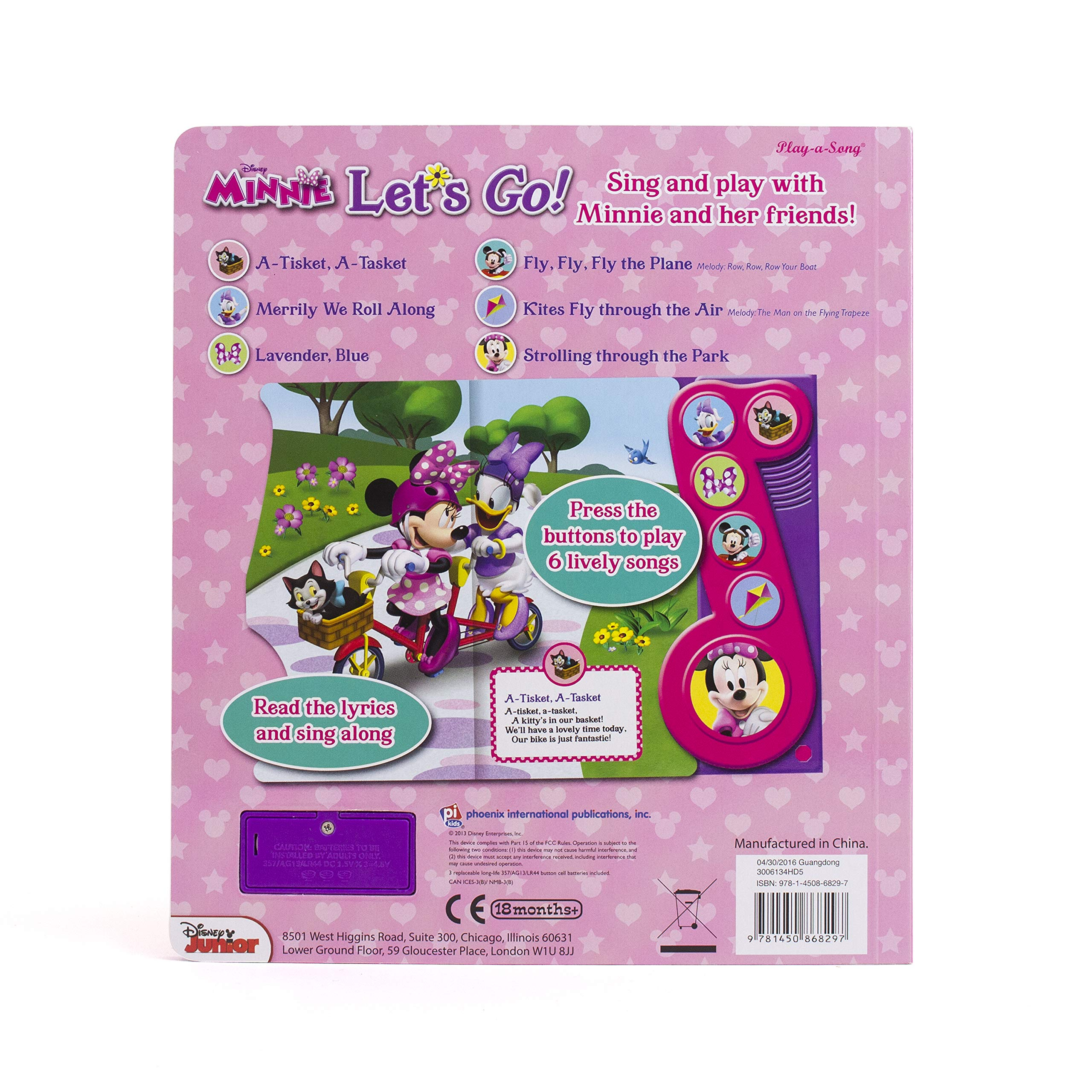 b3abad06cb5ae Disney Minnie Mouse - Let's Go! Little Music Note Sound Book - PI Kids (Disney  Minnie: Play-a-song): Editors of Phoenix International Publications: ...