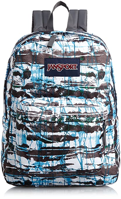 Amazon.com : JanSport SuperBreak Backpack (MULTI BLUE SPLISH SPLASH) : Sports & Outdoors