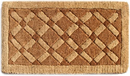 Imports Decor Coir Doormat, Cross Board, 18-Inch by 47-Inch