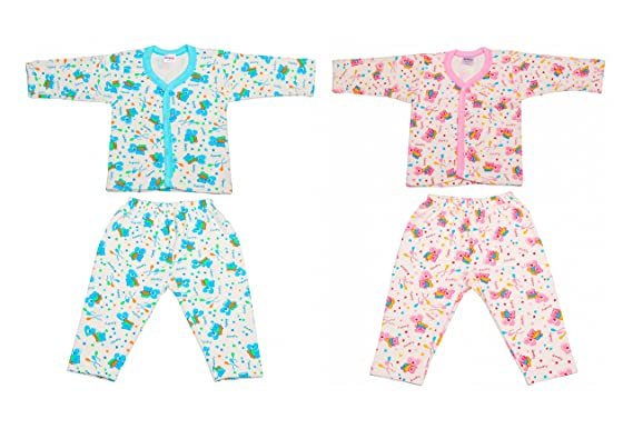 8d5920b613bb Littly Front Open Kids Printed Thermal Top   Pyjama Set for Baby ...