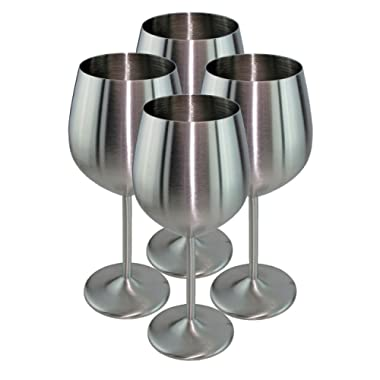 MagJo Stainless Steel Wine Glasses- Highest Quality Stainless Steel (4)