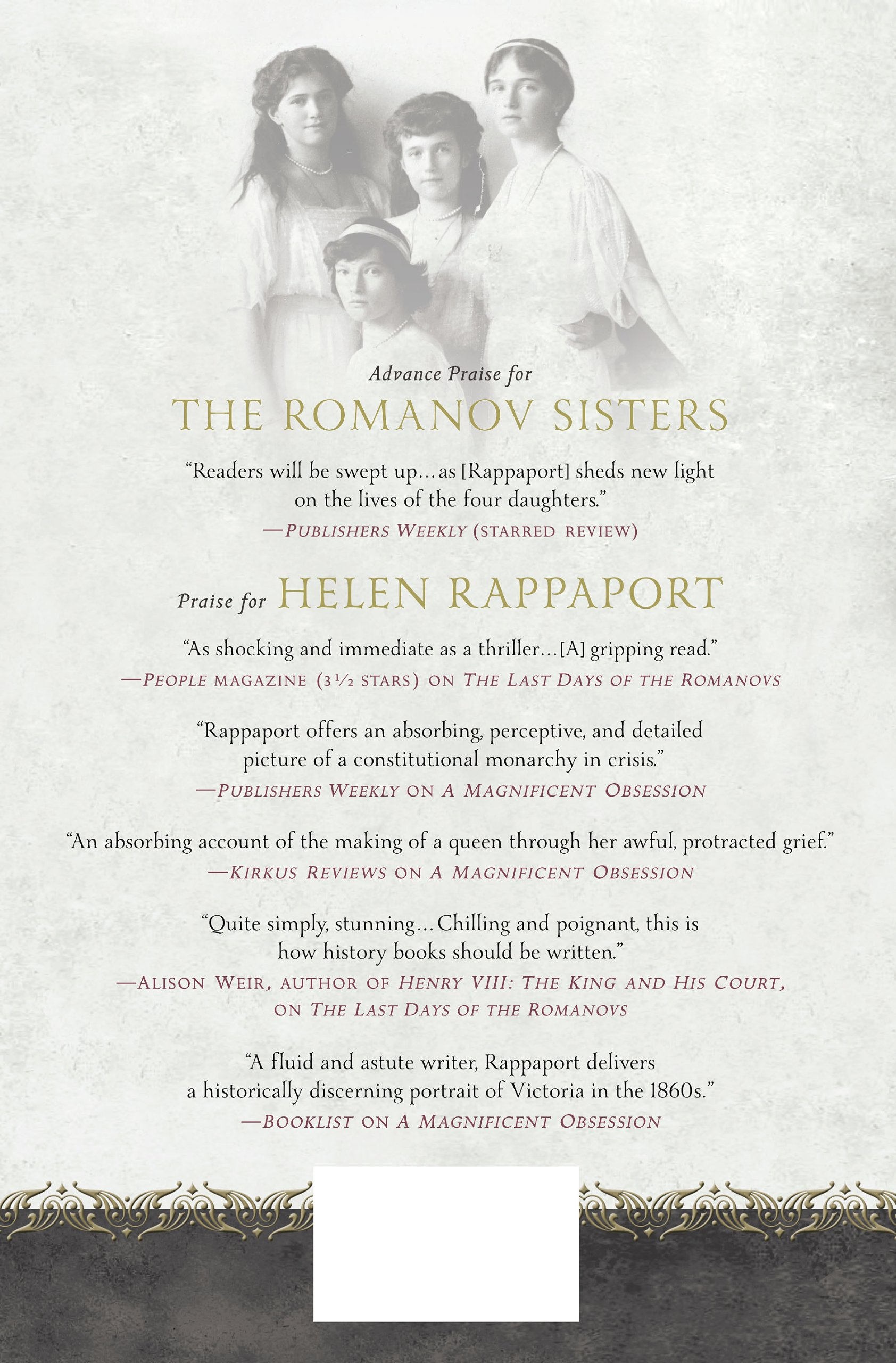 The Romanov Sisters: The Lost Lives Of The Daughters Of Nicholas And  Alexandra: Amazon: Helen Rappaport: Fremdsprachige B�cher