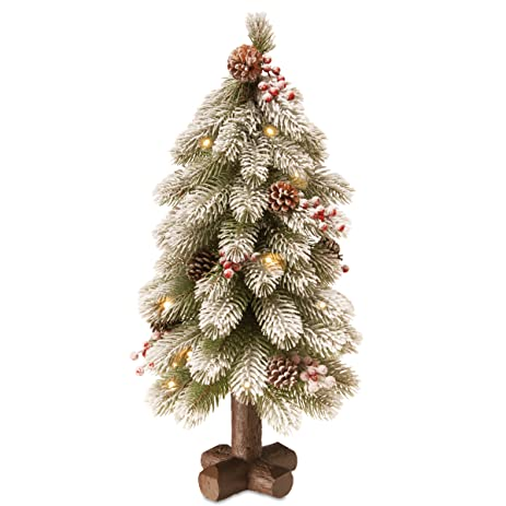 National Tree 24 Inch Feel Real Snowy Bayberry Spruce Tree with Berries,  Cones and 15 - Amazon.com: National Tree 24 Inch Feel Real Snowy Bayberry Spruce