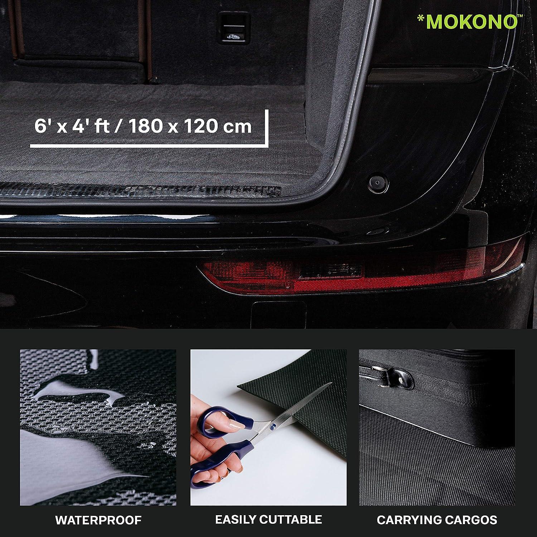 Mokono Antirutschmatte Extra Groß 180x120 Schwarz Individuell Zuschneidbar Kofferraummatte Für Festen Halt Im Auto Auto