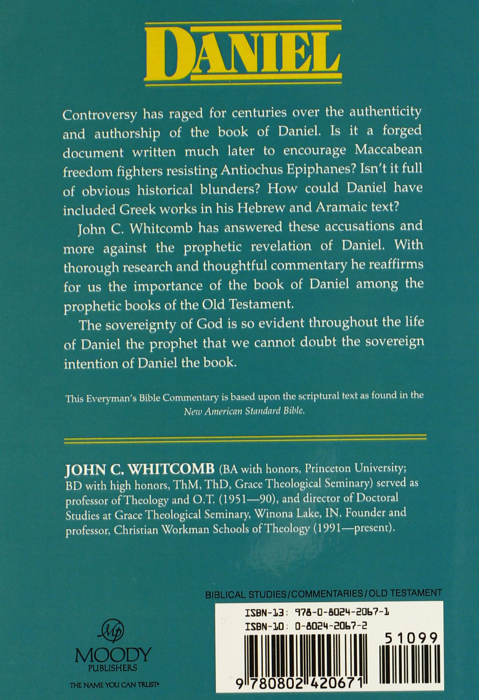 Daniel everymans bible commentary everyday bible commentary daniel everymans bible commentary everyday bible commentary john c whitcomb 9780802420671 amazon books fandeluxe Image collections