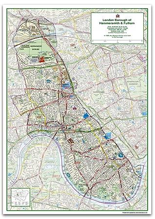 London Borough Of Hammersmith Fulham Map Size 84 1 X 118 9 Cm