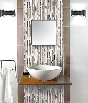Mosaik Fliesen 30 X 30 Cm Glasfliese Klavier Braune Folie Grau