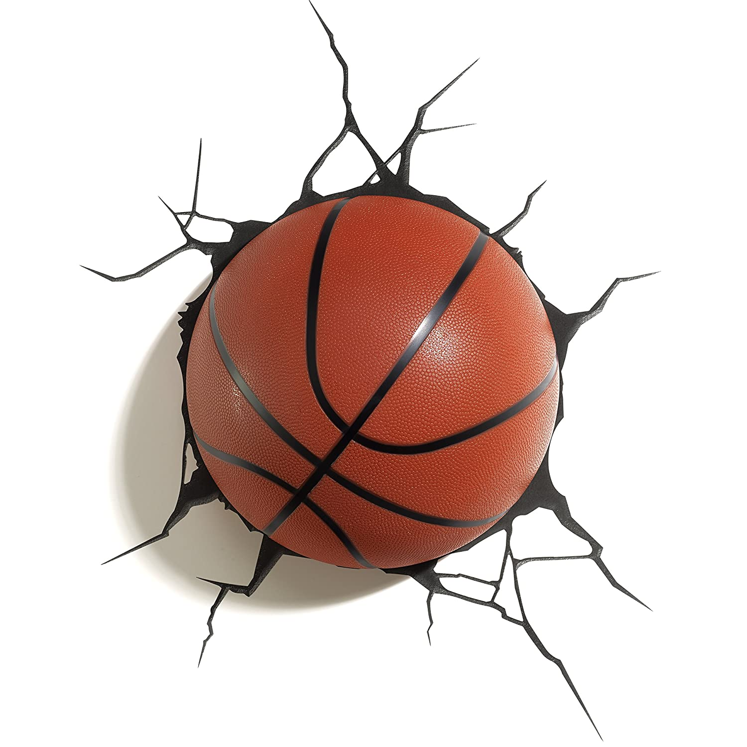 3D Light FX Plastic Basketball Light - Orange/ Black 94024