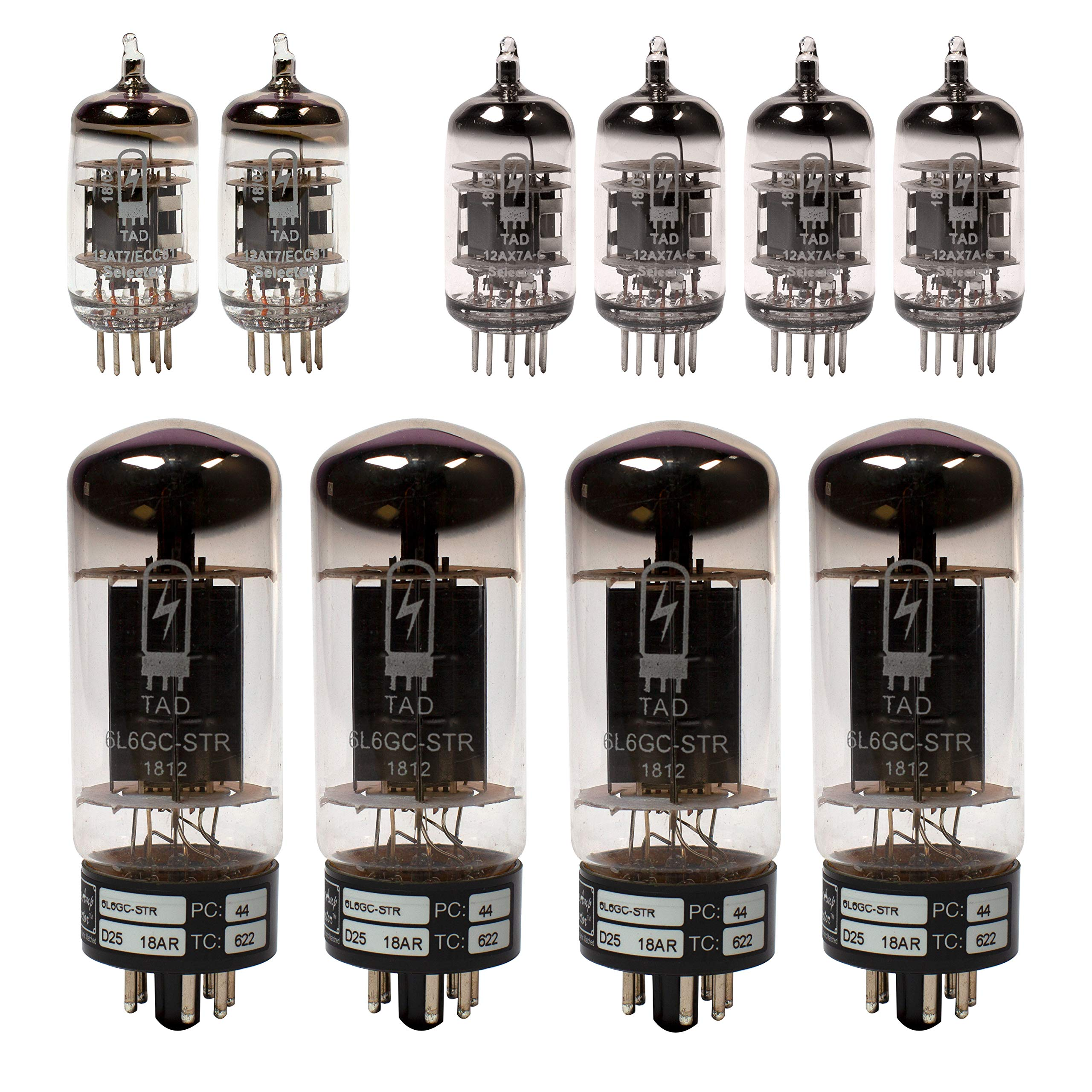 Fender Twin Reverb Tube Set with Matched Power Tubes, TAD brand tubes