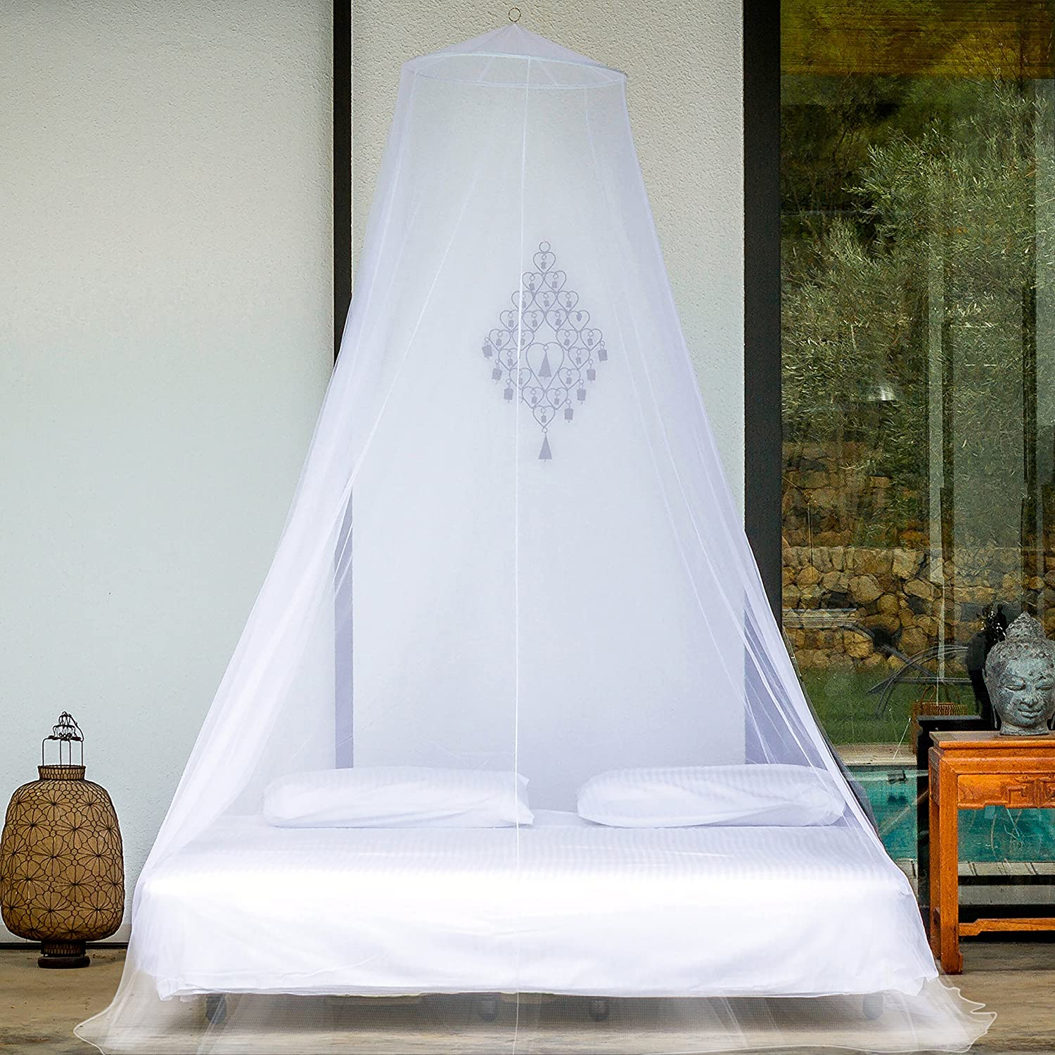 PREMIUM MOSQUITO NET for Twin, Queen and King Size Bed, Large Mosquito  Netting Curtains, Canopy for Bed, Round Insect Fly Screen, Insect  Protection ...