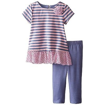 Pippa & Julie Baby Girls' Striped Knit Set