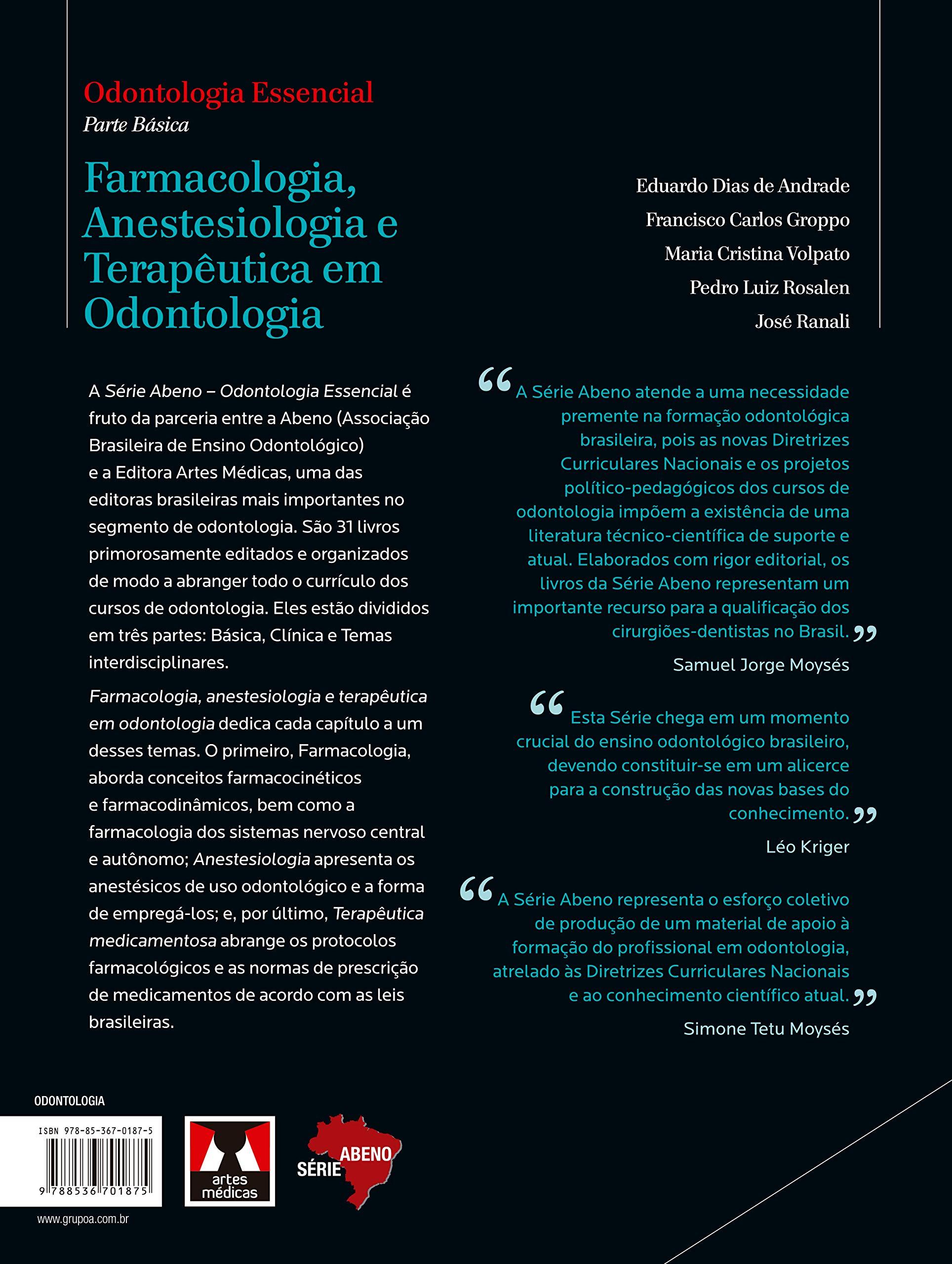 Farmacologia, Anestesiologia e Terapêutica em Odontologia Em ...