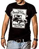 DRAG RACE - Maglietta Rockabilly Hot Rod T-shirt Uomo