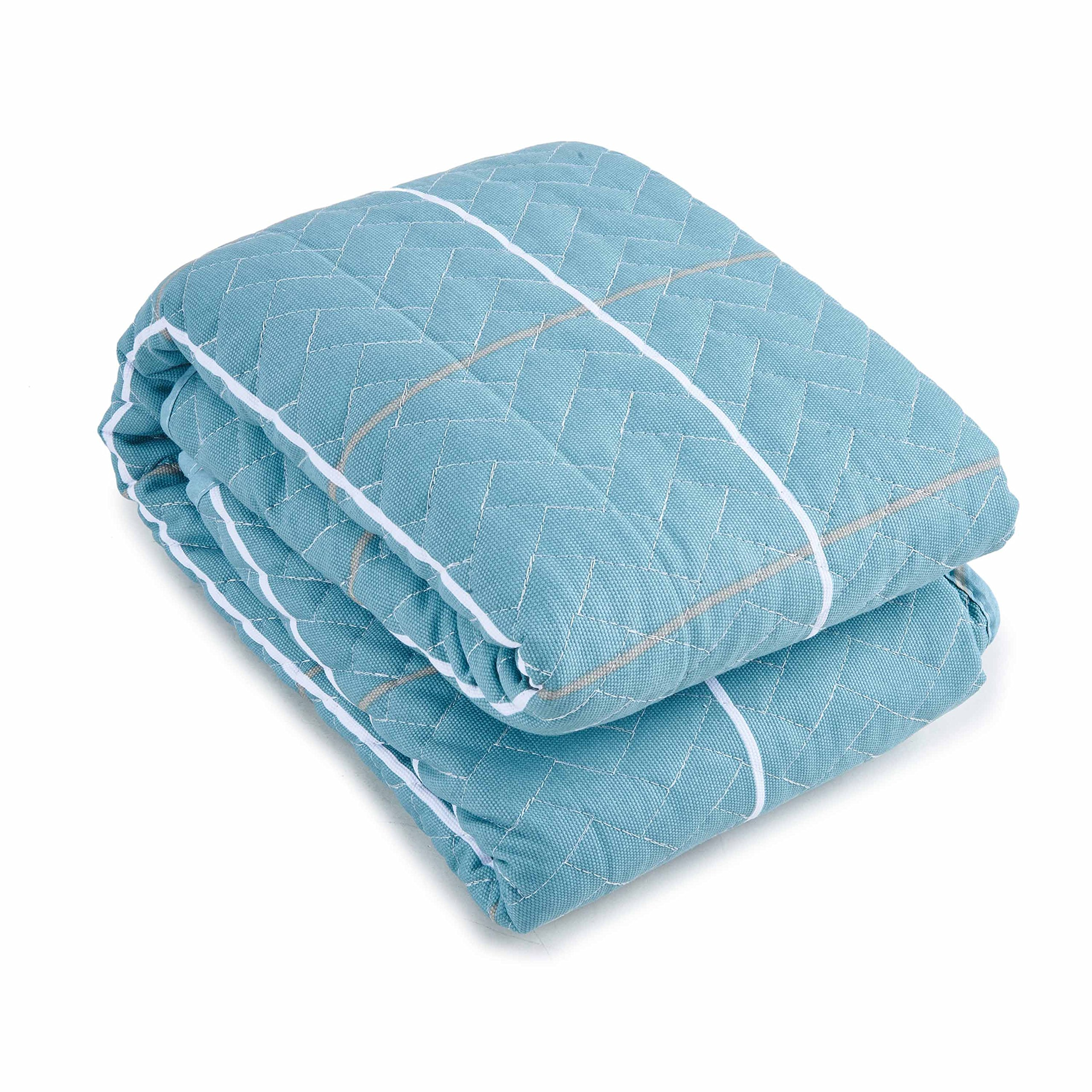 Cotton Non-Slip Sofa Seats Mat Cover Pad Furniture Protectors With Multi (Lake Blue, 36\