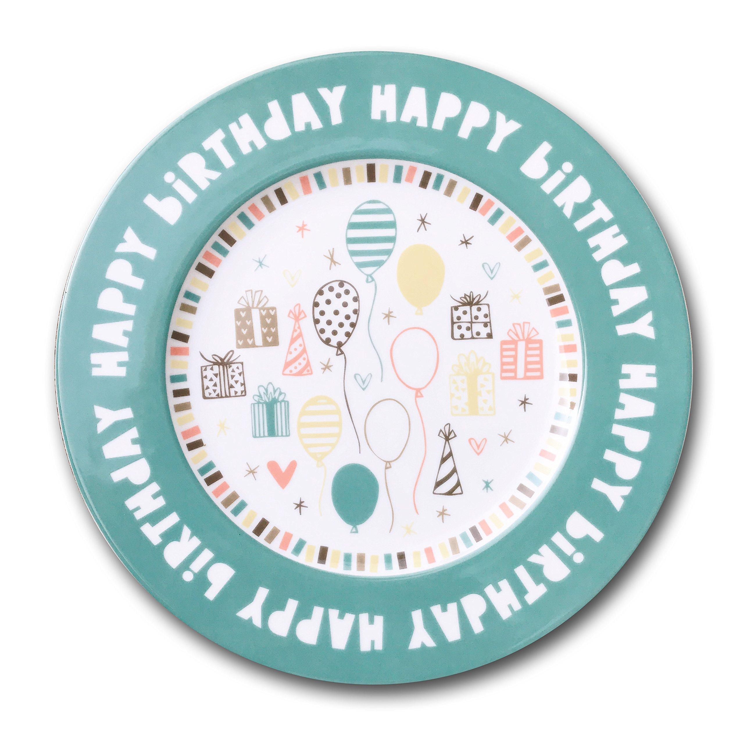 Happy Birthday Plate, 10'' Ceramic