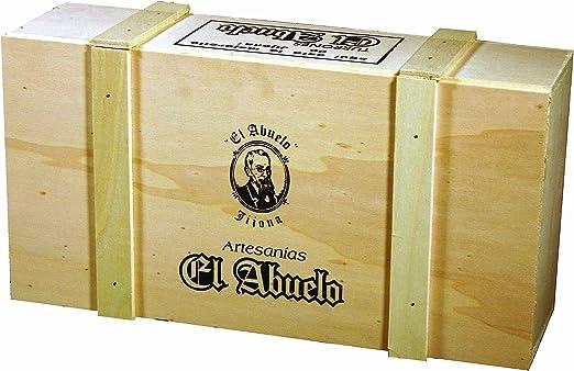 Lote de Turrones artesanos en Caja de Madera blanca (nº 2), El Abuelo. 3,2 KG -