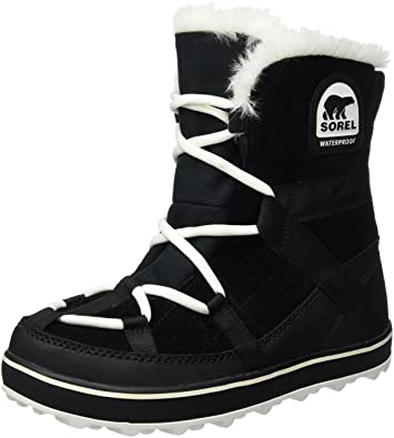 03525852aba SOREL Women s Glacy Explorer Shortie Snow Boot Black 5 ...