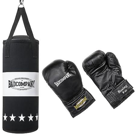 Bad Company Box-Set für Kinder und Jugendliche I Canvas Boxsack, gefüllt - inkl. Aufhängung I 8 oz Boxhandschuhe I 68 x 25 cm
