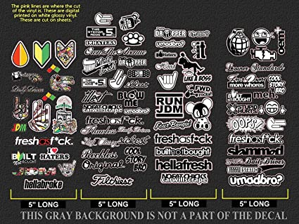 Jdm bulk wholesale sticker decal pack lot of 78 vinyl decal stickers bombing drift race