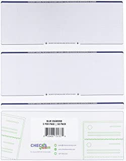 Checks Next Day Computer Check Paper Pack Of 50 Blank Stock L Sheets With 3