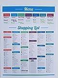 LillieKay Weekly Menu and Shopping Grocery List Planner Tear Off Pad, 8.5 x 11 inch | Menu Food Tracker | Shopping List (Menu/Shopping List Planner)