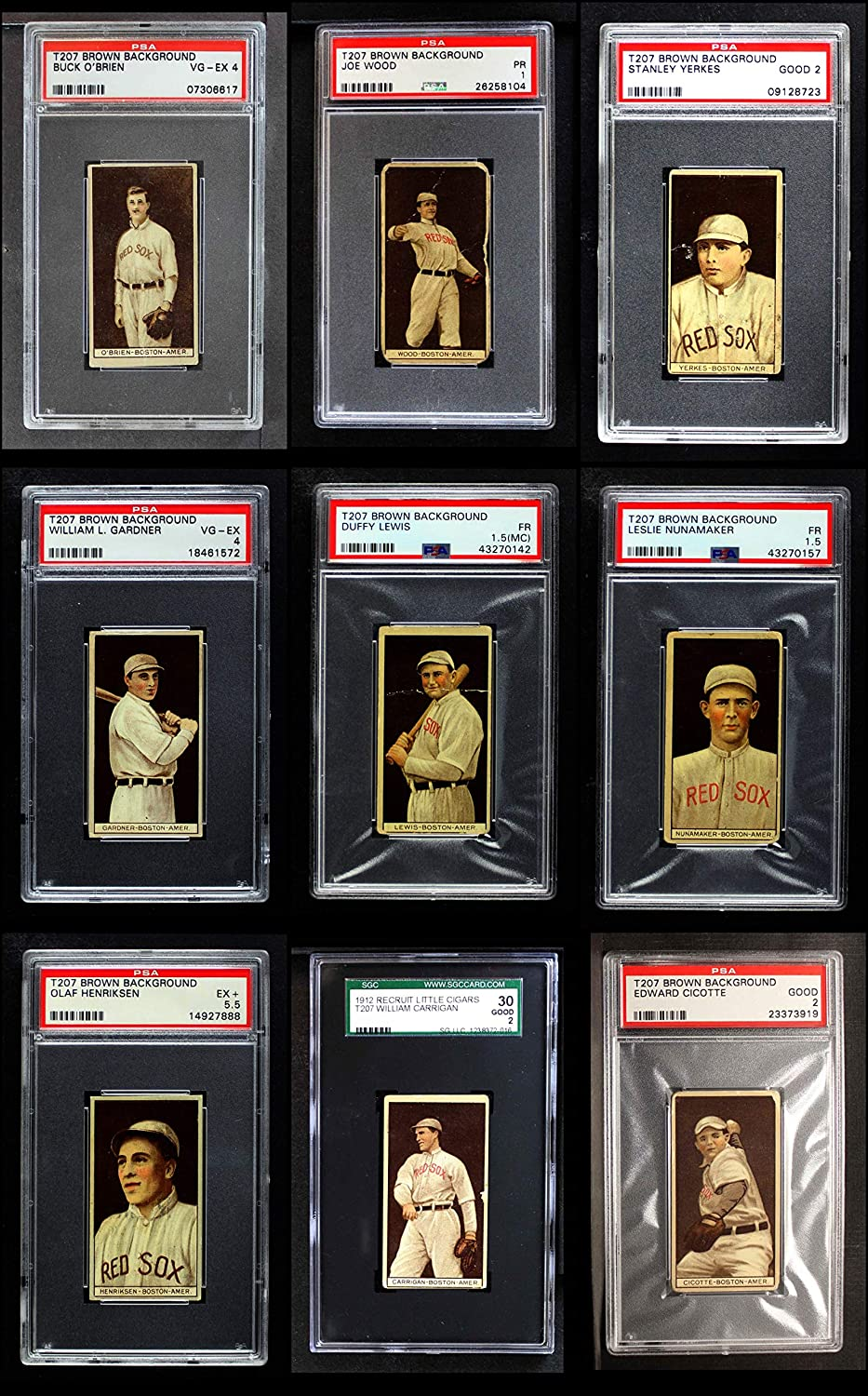 1912 T207 Boston Red Sox Near Team Set Boston Red Sox (Baseball Set) Dean's Cards 2 - GOOD Red Sox 91ybIAf3z-LSL1500_