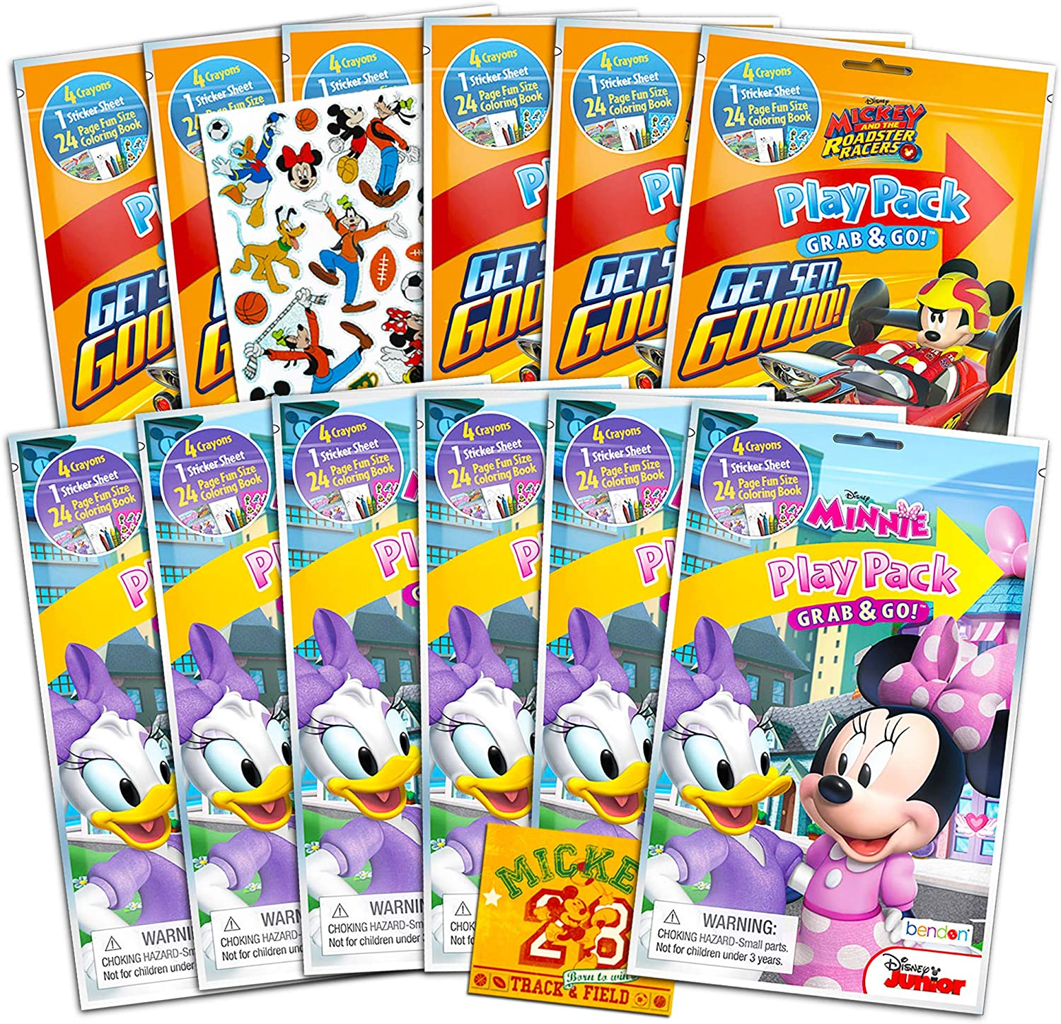 Amazon.com: Disney Mickey y Minnie Mouse Party Favor Packs ...