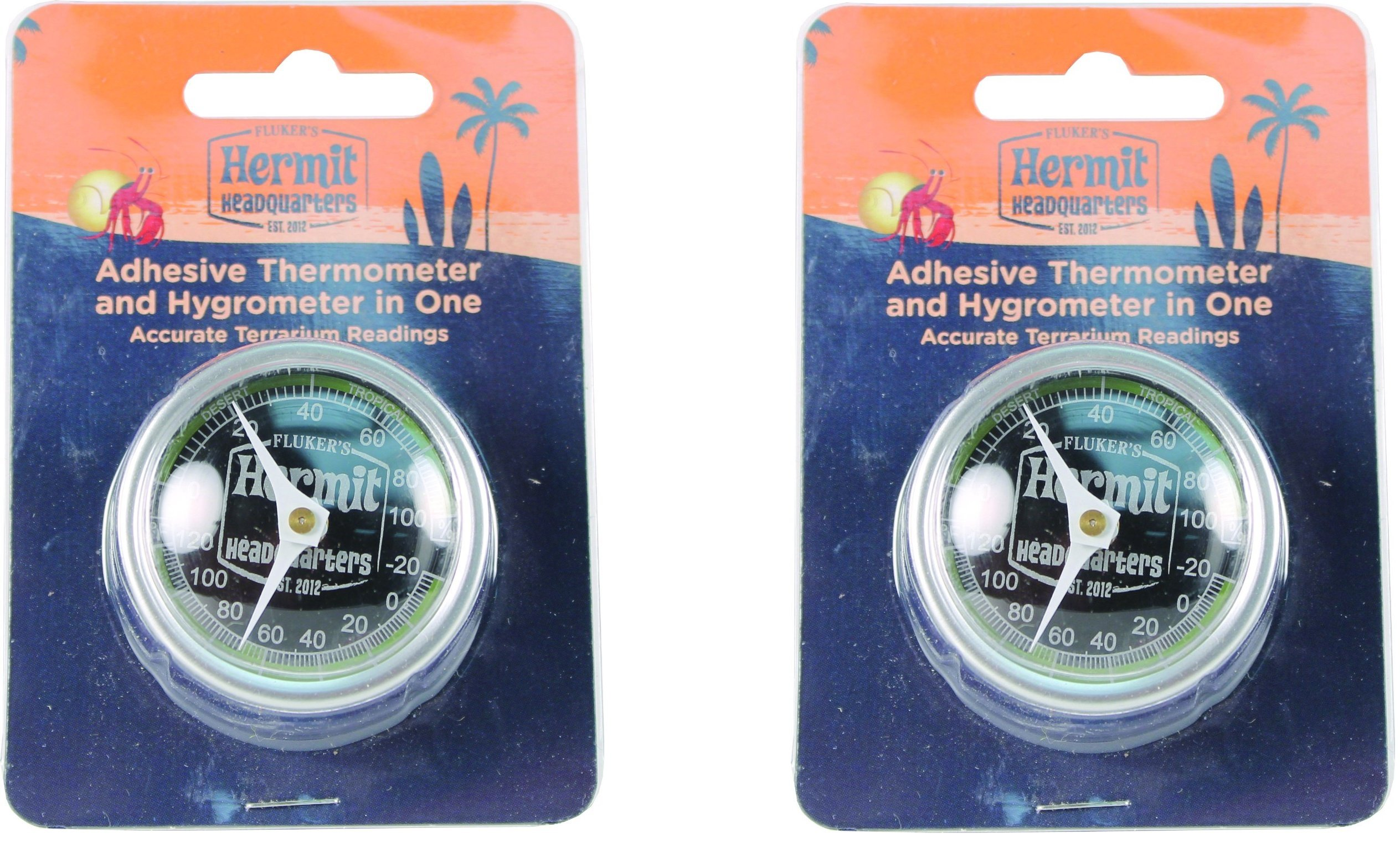 Flukers Hermit Headquarters Thermometer & Hydrometer Combo (2 Pack)