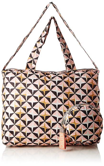Oilily - Enjoy Geometrical Shopper Xlhz, Bolso Mujer, Rosa (Rose), 20x31x40