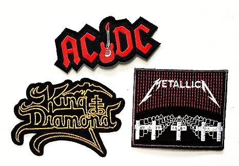 3 pcs Set banda de música parche AC DC acdc guitarra King Diamond ...
