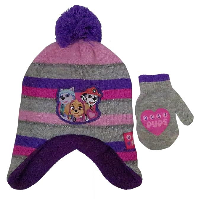 cdc9861297af2 Amazon.com: Paw Patrol Girls Winter Hat and Gloves Set Standard ...