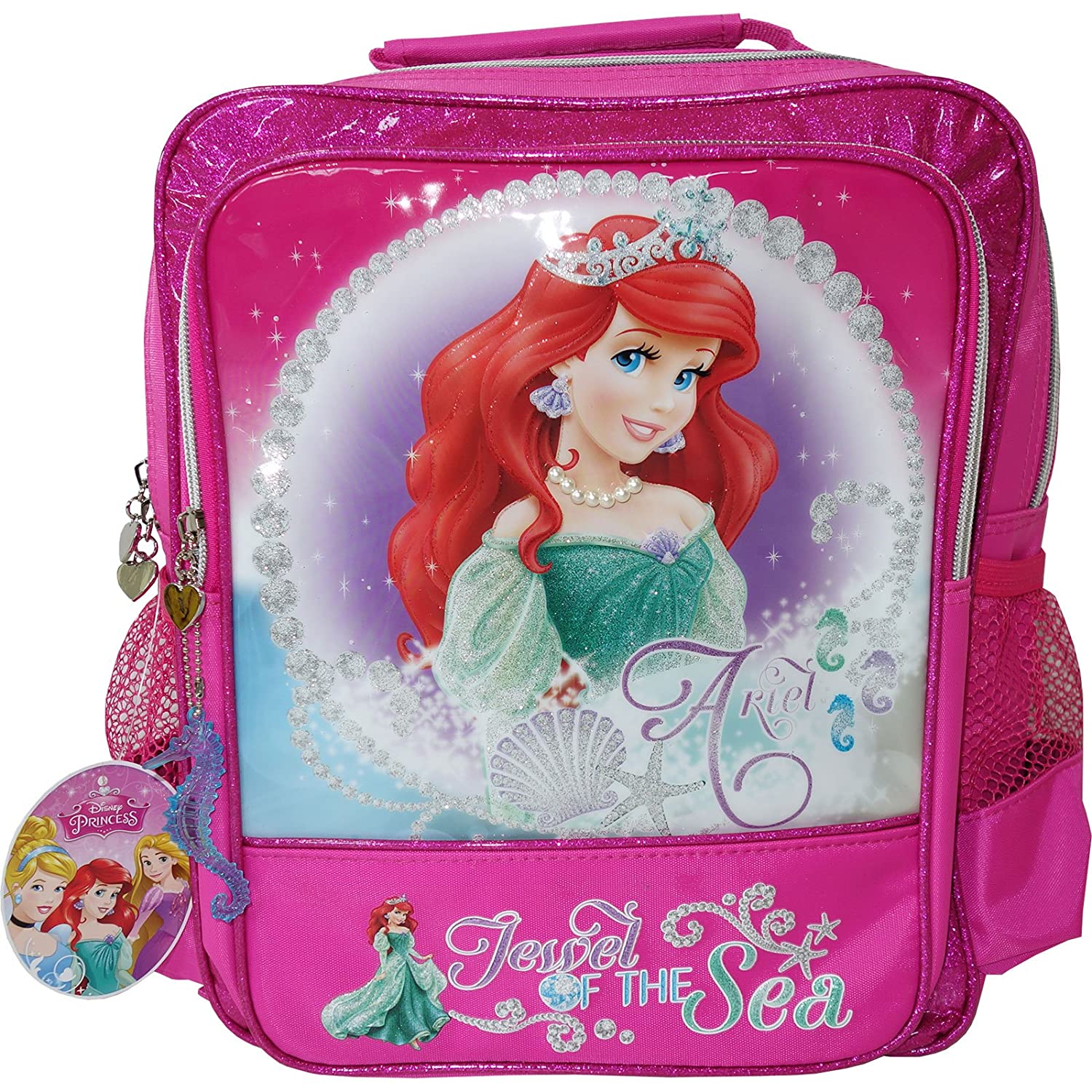 Official Disney The Little Mermaid Pink Shimmery Backpack