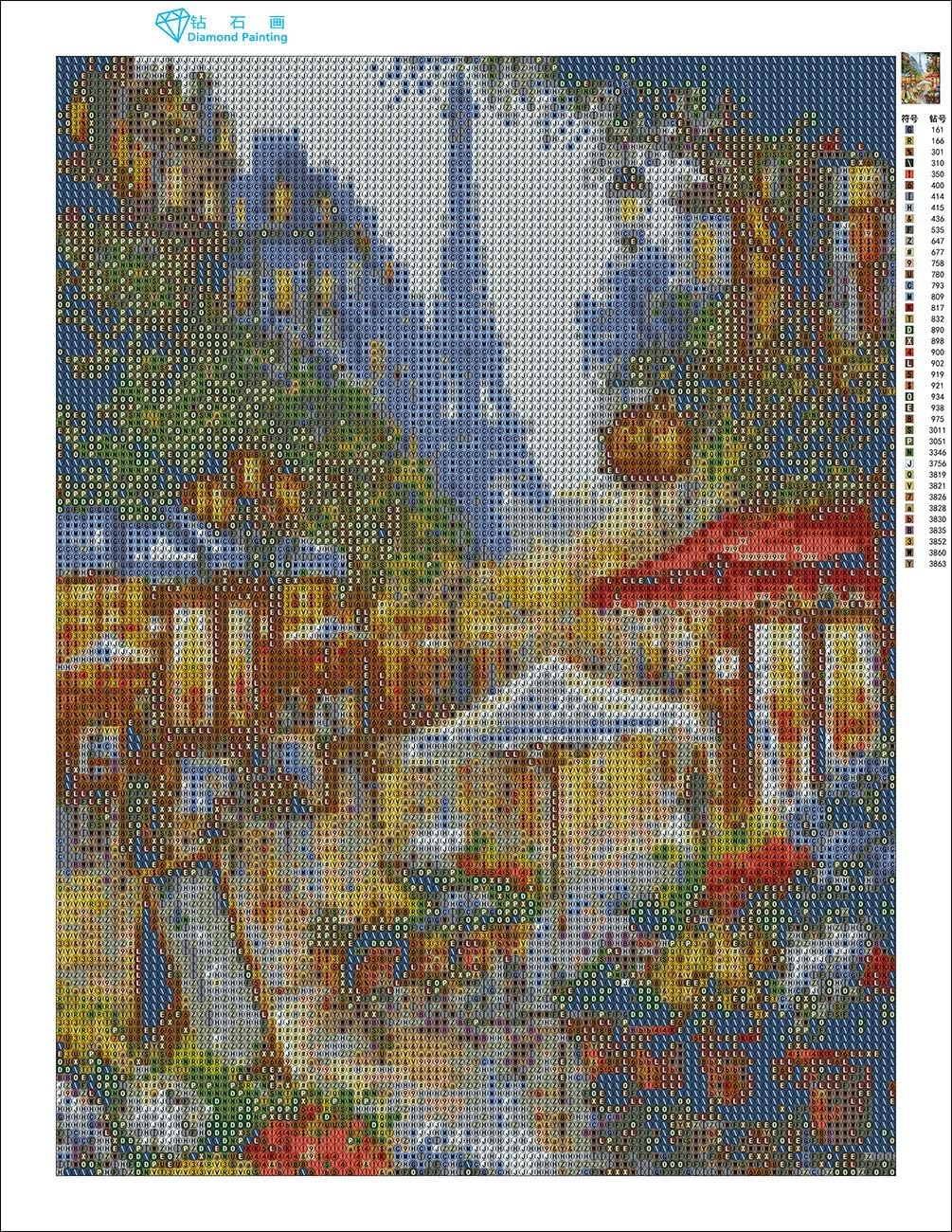 Zimal New!3D DIY Full Diamond Painting Embroidery Street of Paris Rhinestone Picture Diamond Swan Love Gift Craft 30x40cm