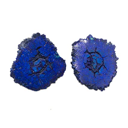 Amazon com : Azurite Geode Pair : Everything Else