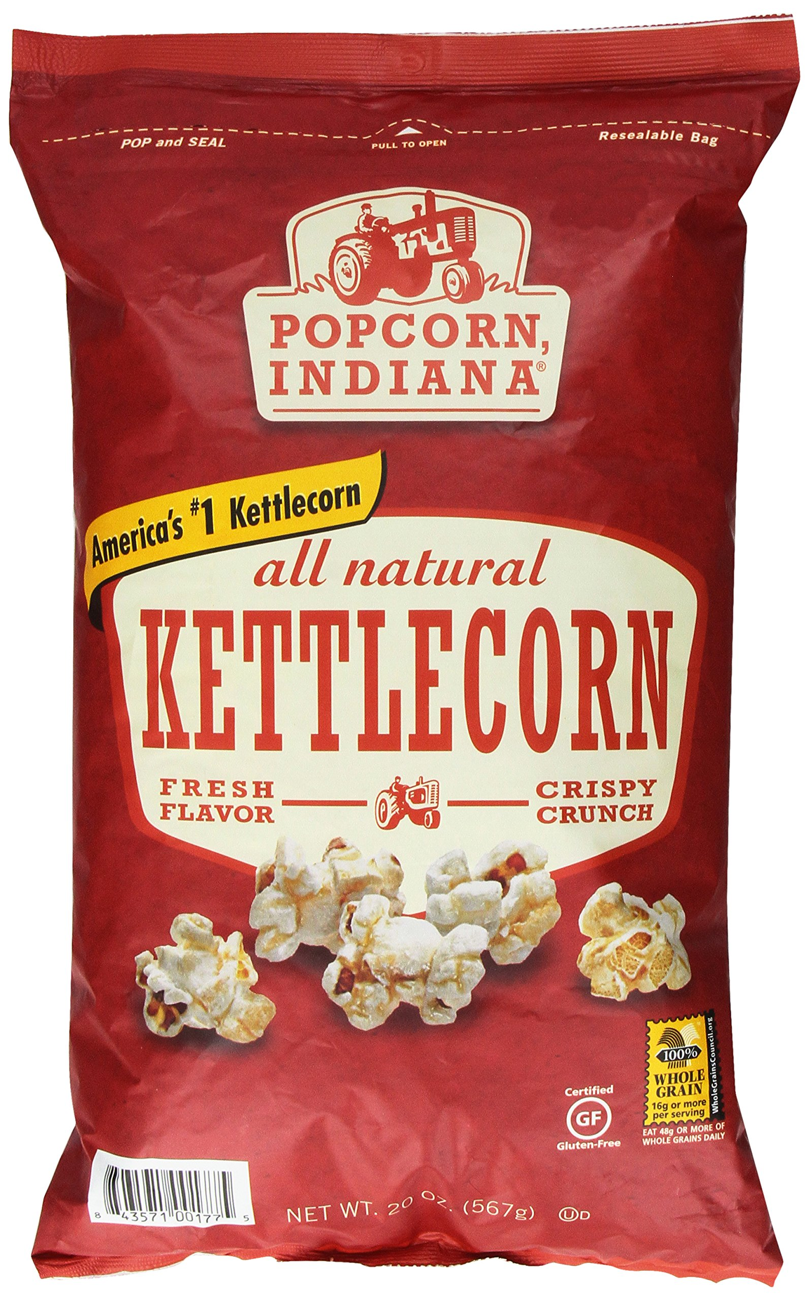 Popcorn Indiana All Natural Kettlecorn, 20 Ounce