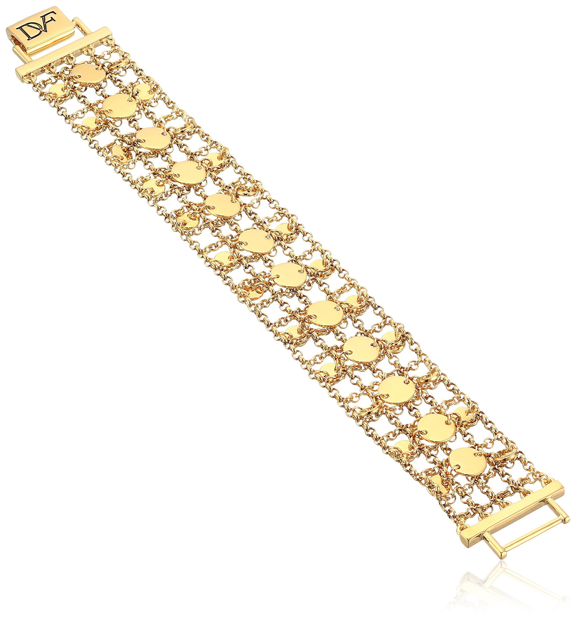 Diane von Furstenberg ''Summer Disco'' Circle Mesh Chain Bracelet, 8''
