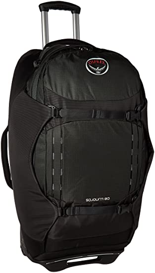 Amazon.com: Osprey Packs Sojourn Wheeled Luggage, Flash Black, 80 ...